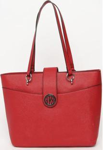 Bolsa Texturizada- Vermelha- 27X42X12Cm- Guessguess