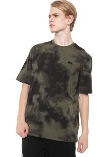 Camiseta Lacoste L!Ve Tie Dye Verde