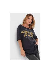 Camiseta Triton Borboleta Preta