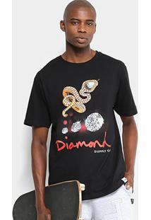 Camiseta Diamond Snake Tee Masculina - Masculino