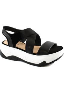 Sandália Flatform Feminina Verão Sapato Show 18826