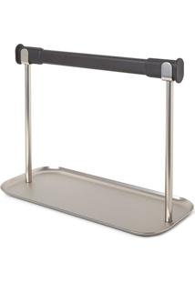 Porta Papel Toalha Limbo Aço E Soft Cromado E Preto Umbra