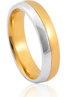 Aliança De Casamento Em Ouro 18K 4,8Mm Anatômica