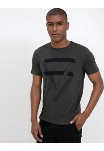 Camiseta Estampa Triângulo Duplo