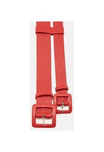Cinto Cintura Duplo Transpasse Vermelho