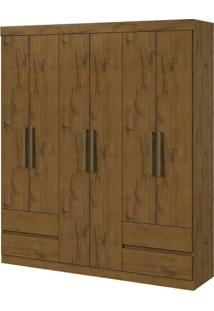 Guarda-Roupa Zeus Plus - 6 Portas - Rovere Soft