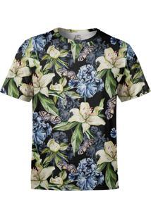 Camiseta Estampada Over Fame Floral Iris E Borboletas