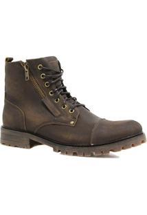 Bota Coturno Zariff Shoes Savana Masculina - Masculino-Marrom