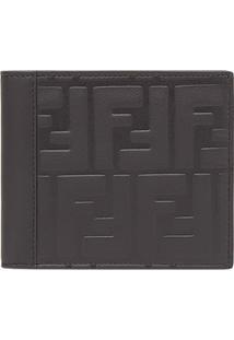 Fendi Carteira Com Logo Em Relevo - Cinza