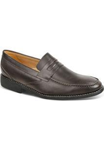 Sapato Social Masculino Loafer Sandro Moscoloni Castilho Marrom Escuro
