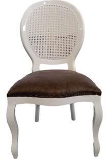 Cadeira Medalhão Sem Braço - Encosto Palha - Tommy Design