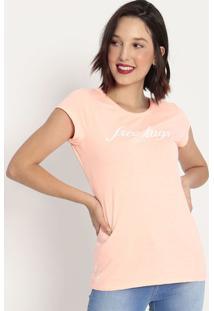 "Camiseta ""Free Hugs""- Rosa Neon & Branca- Coca-Colacoca-Cola"