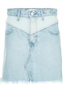 Nobody Denim Vline Piper Skirt Jovial - Azul