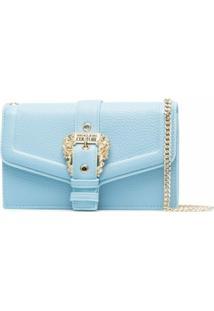 Versace Jeans Couture Clutch Com Detalhe De Fivela - Azul