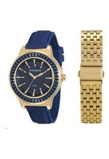 Relógio Analógico Mondaine Feminino + Pulseira - 76571Lpmvde2 Dourado