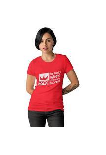 Camiseta Feminina Ezok Royal Brand Vermelho