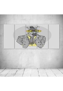 Quadro Decorativo - Zebra Style - Composto De 5 Quadros - Multicolorido - Dafiti