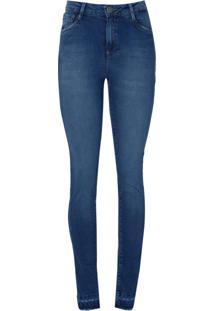 Calca Jeans Super Stretch Abertura Barra (Jeans Medio, 34)