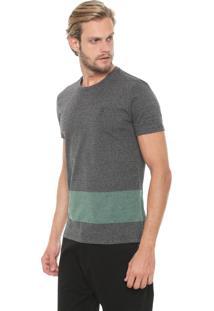 Camiseta Calvin Klein Recorte Cinza