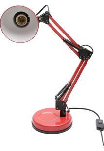 Luminária Pixel- Vermelha- 45X16X16Cm- Urbanurban