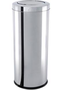 Lixeira Inox Oia Decor Com Tampa Basculante 40,5 Litros