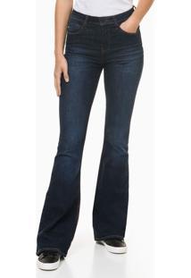 Calça Jeans Feminina Five Pockets Skinny Flare Azul Marinho Calvin Klein Jeans - 36