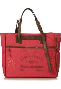 Bolsa Blue Bags Tote Reciclada Bordado Fogo - Vermelho - Dafiti