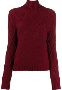 Eleventy Turtle-Neck Sweater - Vermelho