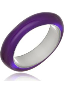 Bracelete Le Diamond Esmaltado Acrílico Roxo - Tricae