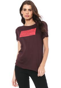 Camiseta Forum Lettering Bordô