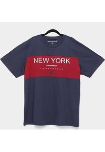 Camiseta Industrie New York Plus Size Masculina - Masculino-Marinho