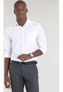 Camisa Masculina Comfort Manga Longa Rosa Claro