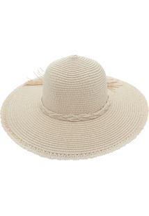 Chapéu De Praia Bali Beach Com Cordão Trançado Branco