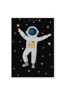 Quadro Astronauta 25Cm Gráo De Gente Azul