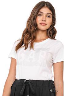Camiseta Gap Aplicações Off-White - Kanui