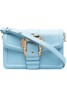 Versace Jeans Couture Bolsa Tiracolo Com Fivela Barroca - Azul