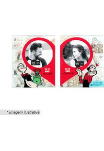 Portas Retrato Popeye & Olivia®- Vermelho & Azul Claro