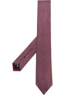 Giorgio Armani Gravata Com Logo Estampado - Vermelho