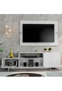 Rack Com Painel Para Tv Atã© 45 Polegadas Siena City Branco 180 Cm