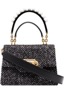 Dolce & Gabbana Bolsa De Tweed Welcome - Preto