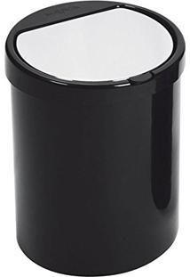 Lixeira De Plástico Click Maxroll Preta 7,5 Litros - 23041