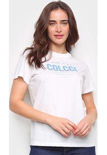Camiseta Colcci Original Design Básica Feminina - Feminino-Off White