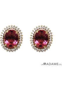 Brinco Swarovski Pink La Madame Co
