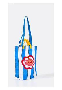 Bolsa Feira Hibisco - Multicolorido - U