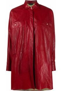 Jejia Jaqueta Oversized - Vermelho