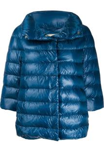 Herno Iconic Sofia Quilted Jacket - Azul