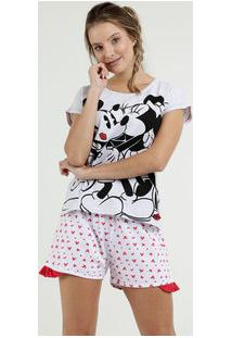 Pijama Feminino Estampa Mickey Minnie Disney
