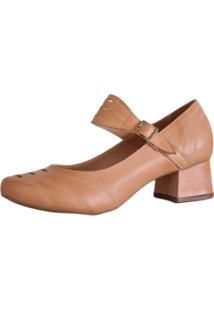 9bfc49b2c1 ... Sapato Boneca Salto Grosso Quadrado Preto Estilo Retrô Vintage Caramelo