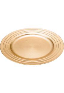 Jogo 6 Sousplat De Plátisco 33Cm - Lyor Design - Dourado