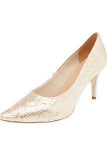 Scarpin Dafiti Shoes Básico Dourado